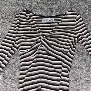 Hollister striped long sleeve top